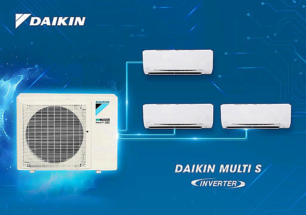 Máy lạnh Daikin Multi S-Combo MKC70SVMV/CTKC25RVMV+CTKC25RVMV+CTKC25RVMV